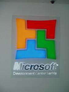 Indoor reklama Microsoft