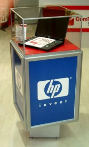 Reklamna vitrina za laptop